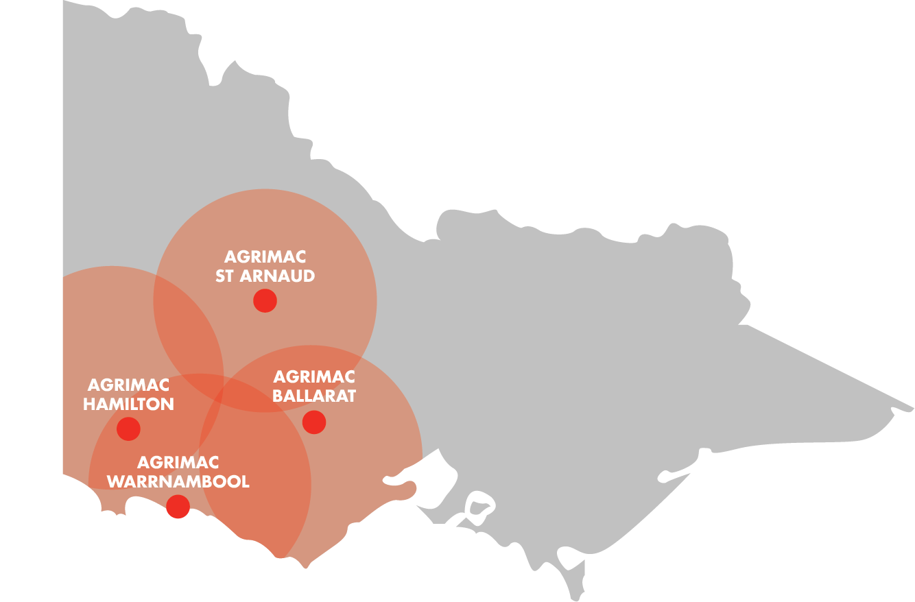 Agrimac Branch Map