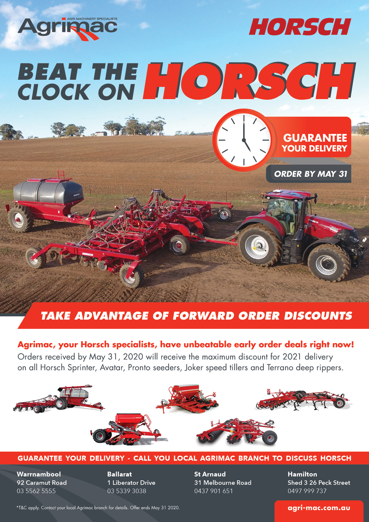 Beat the clock on Horsch