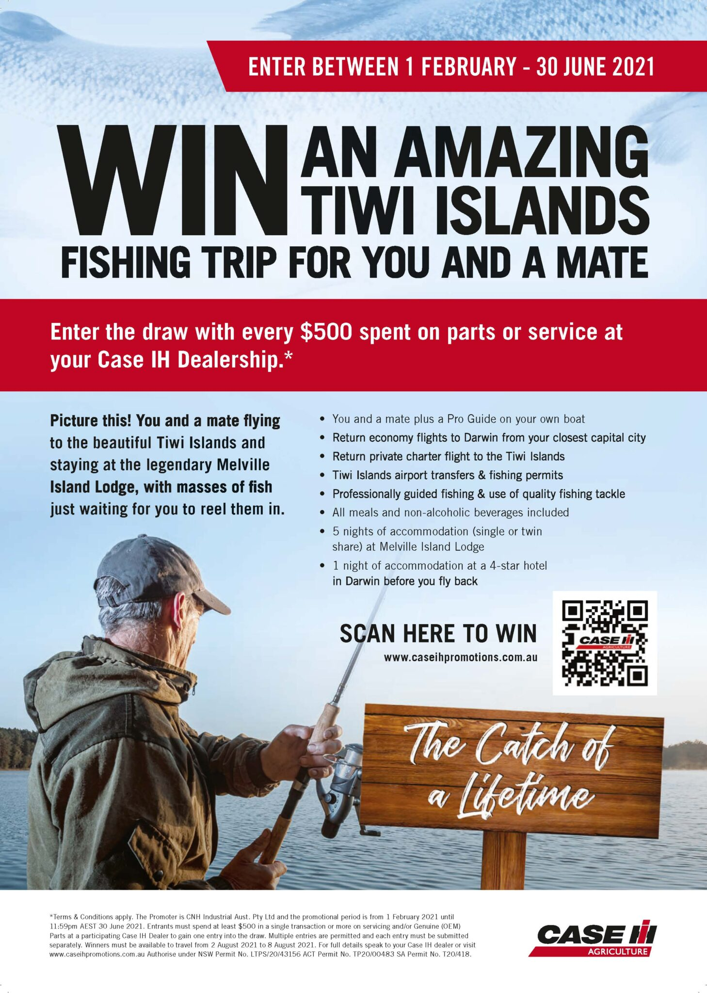 WIN a fishing trip to the Tiwi Islands